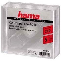 Коробка Hama H-44752 Jewel Case для 2xCD 5 шт (прозрачный)